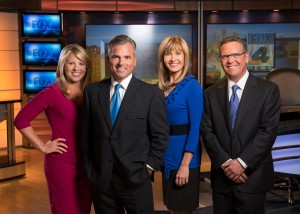FOX 4 morning team (L-r): Karli Ritter, Mark Alford, Loren Halifax and Nick Vasos.