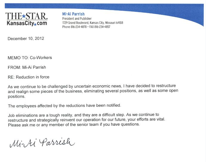 Parrish Memo | Bottom Line Communications Pr Firm
